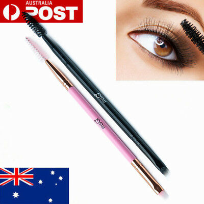 AU Eyebrow Brush Dual-end Duo Brow Eyeliner Angle Cut Spoolie Brush Makeup Tools