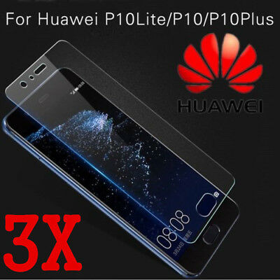 3x For Huawei P10 Lite Tempered Glass Screen Protector Guard 9H Real Premium New