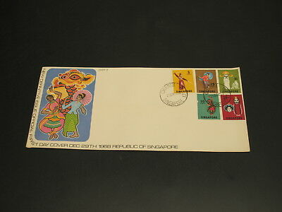 Singapore 1968 FDC cover small fault *30094