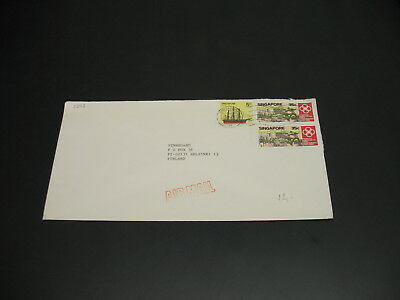 Singapore 1985? airmail cover to Finland *30115