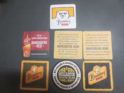 7 different BUNDABERG RUM Distillery  Issue collectable COASTERS