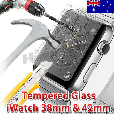 For Apple Watch Tempered Glass Screen Protector 38mm&42mm Front Cover iWatch AME