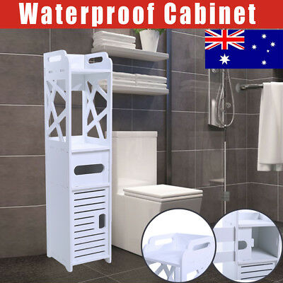 Bathroom Tallboy Furniture Toilet Storage Cabinet Laundry Cupboard Waterproof