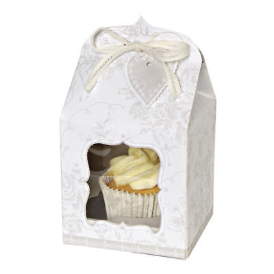 4 Meri Meri To Have And To Hold Individual Cupcake Boxes, Wedding Favours