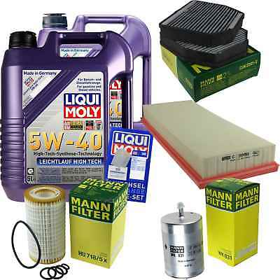 Packet Inspection 10L LIQUI MOLY ll High-tech 5W-40 + Man Filter Package SL