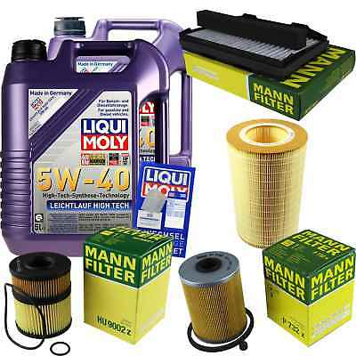 Packet Inspection 10L LIQUI MOLY ll High-tech 5W-40 + Man Filter Package 9-5