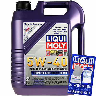 Packet Inspection 10L LIQUI MOLY ll High-tech 5W-40 + Man Filter Package SLK