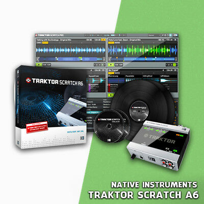 Native Instruments TRAKTOR SCRATCH A6 - Sk Audio USB