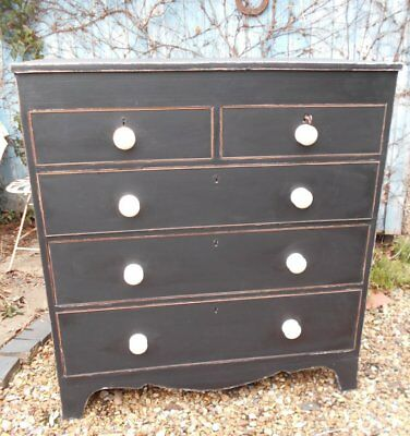 Original  Victorian  Painted / Distressed  Chest  Of  Drawers