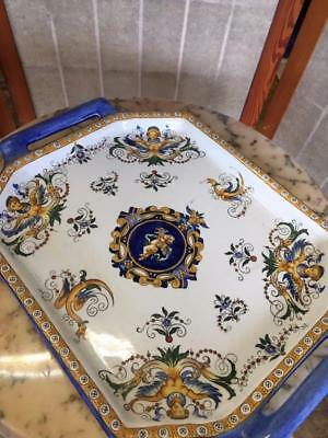 ANTIQUE FRENCH FAIENCE GIEN RENAISSANCE PLATTER.  Circa.1850