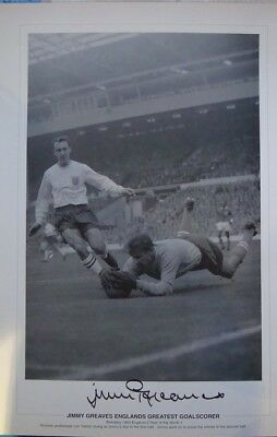Jimmy Greaves Hand Signed 63 Centenary Print He Scored The Winner New Price £15