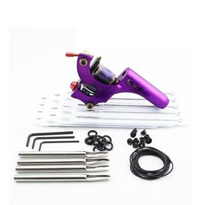 Complete Tattoo Purple Machine Needle Nozzle Nipples Grommets Supply Kit Set