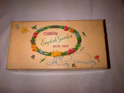 Cussons English Garden Bath Soap Box Empty  Original