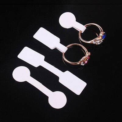 100PCS Jewelry Ring Bracelet Necklace Price Label Sticker Display Tags White