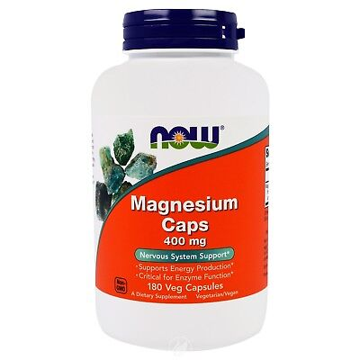 Now Foods - Magnesium Caps, 400 mg, 180 Capsules