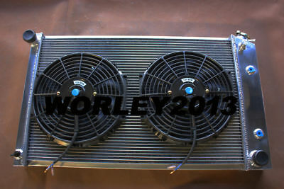 3 core aluminum radiator + fan for Chevy El Camino 1978-1987