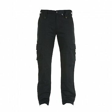 Bull-it Mens Black Cargo motorcycle protection Jeans SR6 -size 38 reg