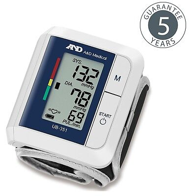 A&D Medical AND UB 351 Lightweight & Compact Design Wrist Blood Pressure Monitor