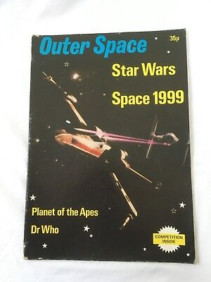 OUTER SPACE Magazine Star Wars Space 1999 Planet of the Apes Dr Who 1978