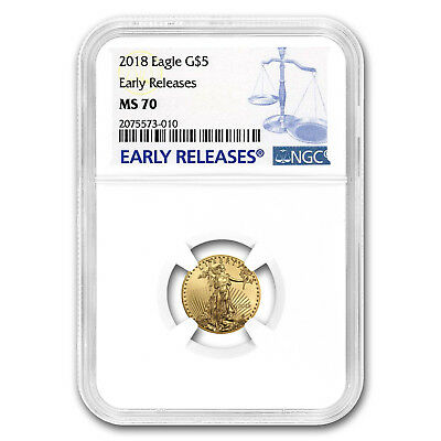 2018 1/10 oz Gold American Eagle MS-70 NGC (Early Releases)