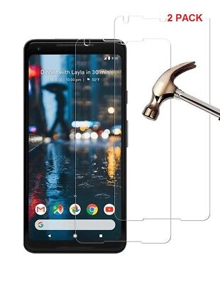 "2 X (2 Pack) Tempered Glass Screen Protector Guard For Google Pixel 2 XL  (6.0"")"