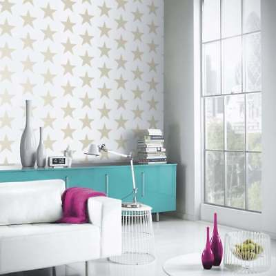 Feature Wall Bold Glitter Star Theme Wallpaper Kids Gold Sparkle Arthouse 891300