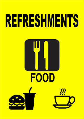 Refreshments Sign