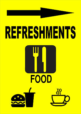 Refreshments Right Sign