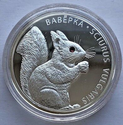 "Republic of Belarus SILVER coin 20 Rubles ""Squirrel - Вавёрка""  2009"