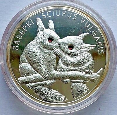 "Republic of Belarus SILVER coin 20 Rubles ""Squirrel - Вавёркi 2009"