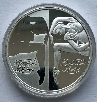 "Republic of Belarus SILVER coin 20 Rubles ""Belarusian Ballet"" 2007"