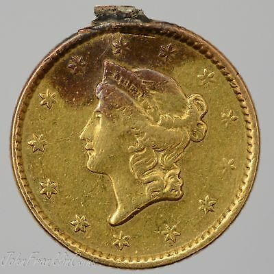 1852 Ty-1 $1 Liberty Head Gold Dollar XF (Loop Removed/Damaged) /T-751