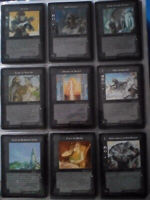 Carte middle earth ccg black border - vendu a l'unite - lire description !!! v.o