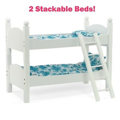 White Bunk Bed Doll Furniture Fits 18 Inch American Girl Dolls