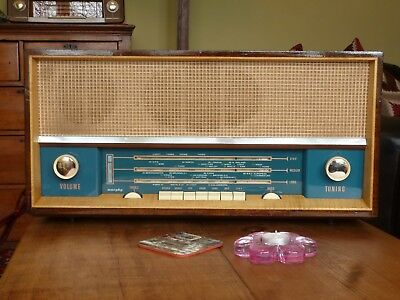 Vintage 1960 Murphy A684 Quality VHF Wood Case Valve Radio, Fully Working FAB