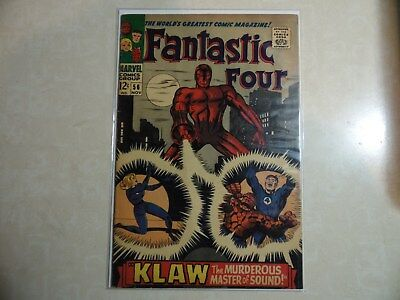 Silver Age The Fantastic Four #56 Fine 6.0 1St App Of Klaw Key Issue!!!