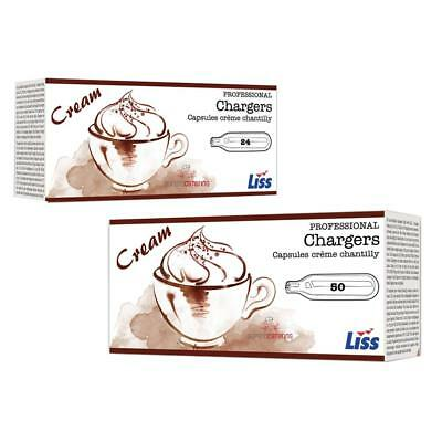 600 x LISS CREAM CHARGERS (Packed in 24's) Quality N2O. Grey Steel. Traditional.