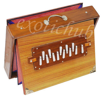 "SHRUTI BOX~BIG SIZE (16"" X 12"" X 3"")~TEAK WOOD~SURPETI~13 DRONES~C TO C~440 Hz"