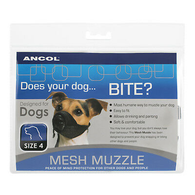 Ancol 'Does your dog... Bite?' Mesh Muzzle