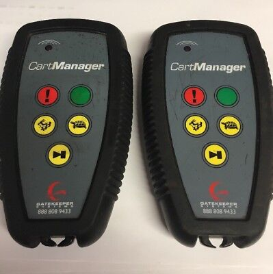 (2) Gatekeeper Systems  CART  MANAGER  Remotes Model K-9400 Used Untested