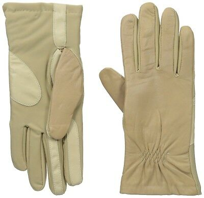 1f255177c Isotoner Women's Smartouch Stretch Leather Glove with Partial Back Gather  Camel