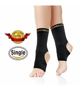 Compression Ankle Sleeve, Plantar Fasciitis Sock, Copper Infused Arch Support -M