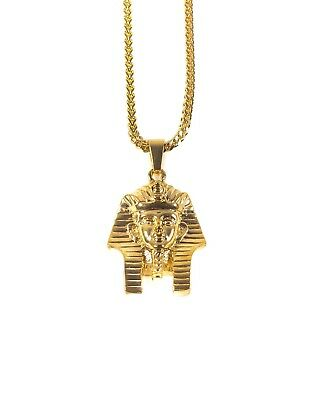 Pharaoh Head Necklace - Gold Plated - Egyptian Gods Pendant Ancient God Egypt