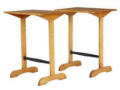PAIR OF 1920's SWEDISH BIRCH OCCASIONAL TABLES