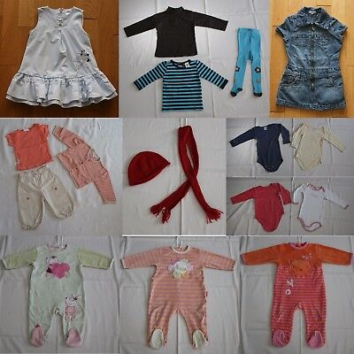 Lot de 17 vêtements Fille - 12 mois
