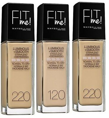NEW MAYBELLINE FIT  ME LUMINOUS & SMOOTH FOUNDATION 30ml