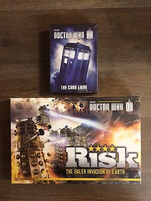 Doctor Who Bundle of 2 Board Games: RISK + The Card Game 2nd Edition - NEW