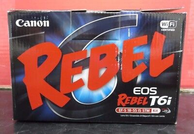 Canon EOS Rebel T6i DSLR Camera with 18-55mm Lens NEW!!