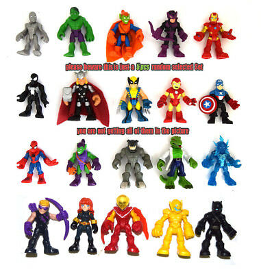 Playskool Heroes Random 10pcs//set Marvel Super Hero Adventures Figure Toy S180