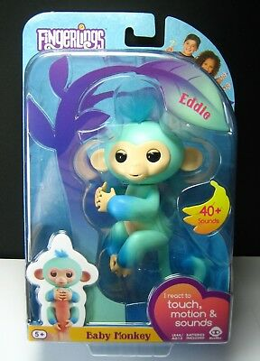 FINGERLINGS Baby Monkey EDDIE Ombre TWO TONE Interactive pet CUTE! Responds NEW!